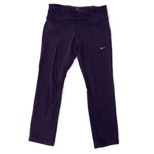 Nike Dri Fit Purple Cropped Athletic Leggings